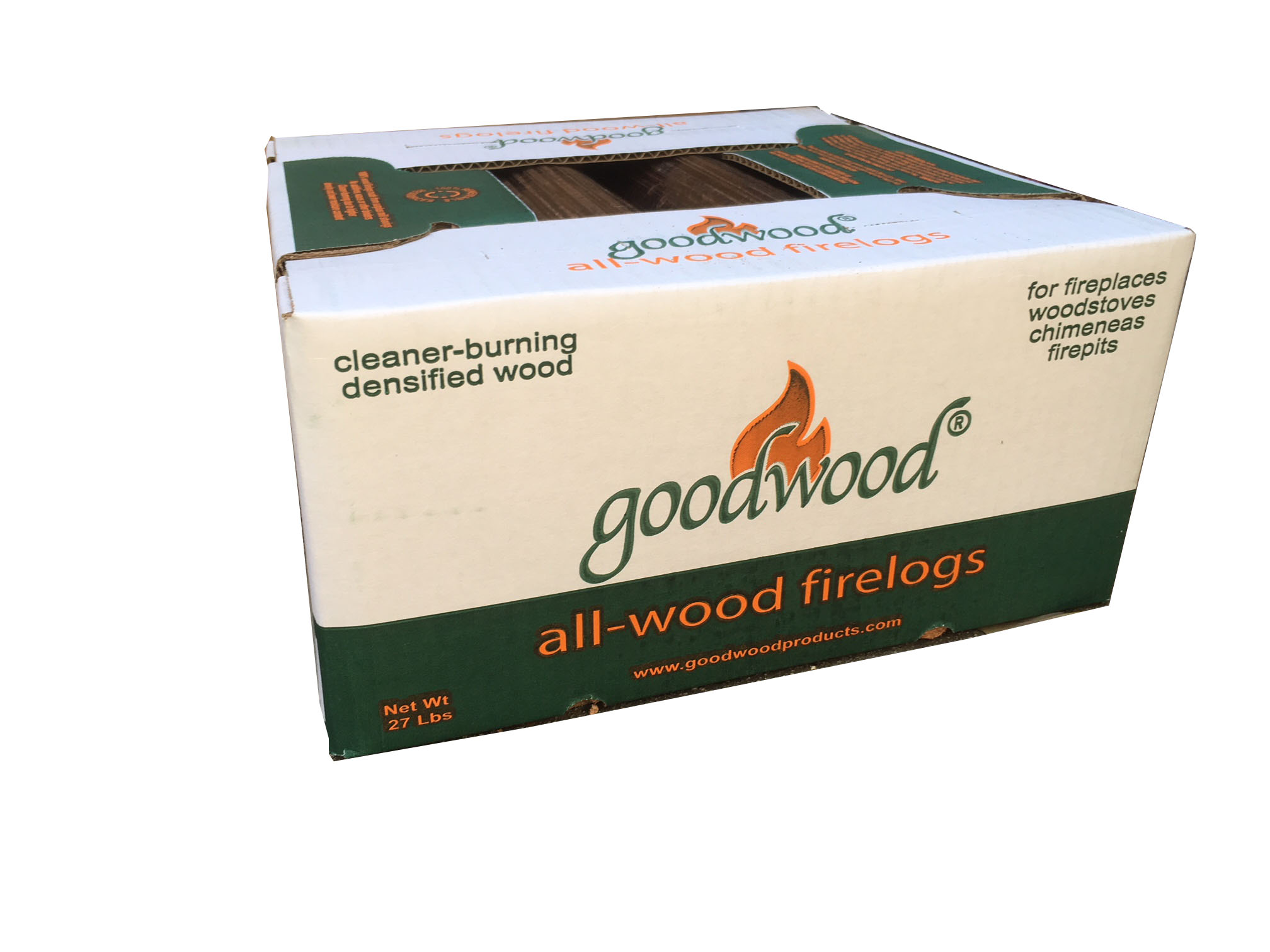 2 Cases All-Wood Firelogs Via UPS